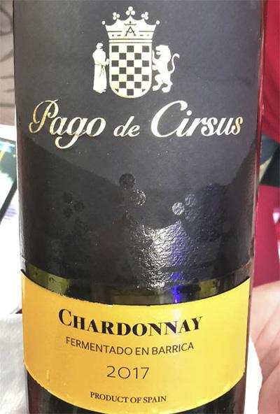 Pago de Cirsus Chardonnay Fermentado en barrica 2017 белое вино отзыв