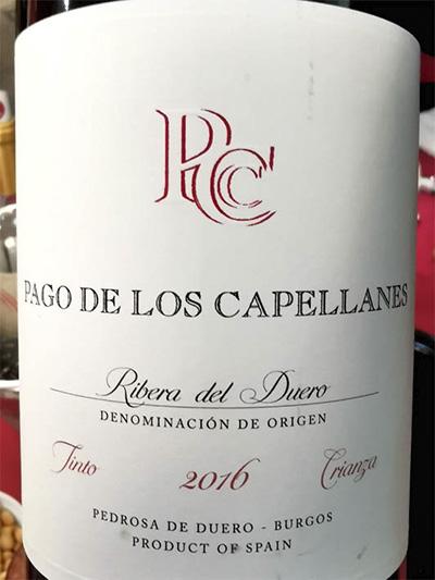 Pago de Los Capellanes Crianza Ribera del Duero 2016 красное вино отзыв