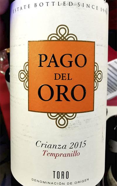 Pago del Oro Tempranillo Crianza Toro 2015 красное вино отзыв
