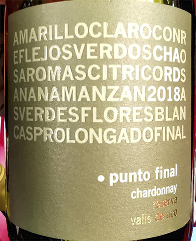 Punto Final Chardonnay reserva 2018 белое вино отзыв