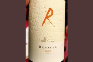Renacer Malbec 2015 красное вино отзыв