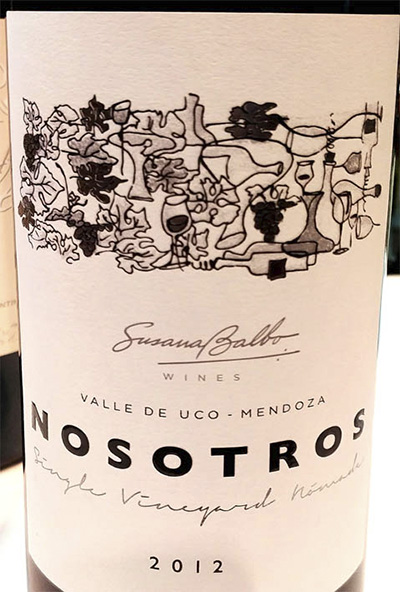 Susana Balbo Nosotros Single Vineyards Malbec Mendoza Argentina 2012 красное вино отзыв