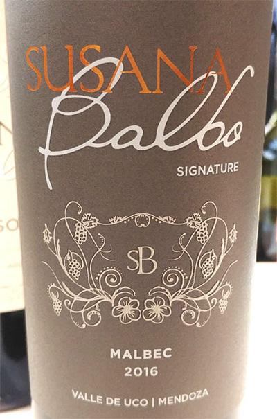 Susana Balbo Signature Malbec Mendoza Argentina 2016 красное вино отзыв