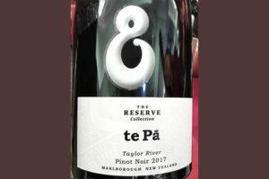 Te Pa Pinot Noir Reserve collection Taylor River Marlborough New Zealand 2017 красное вино отзыв