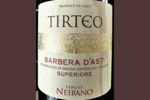 Tenute Neirano Tirteo Barbera d'Asti superiore 2017 красное вино отзыв