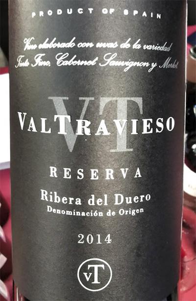 ValTravieso Reserva Tinto Fino Cabernet Sauvignon Merlot Ribera del Duero 2014 красное вино отзыв