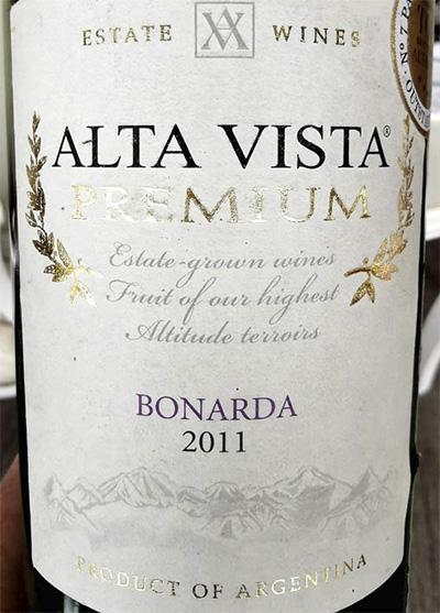 Alta Vista Premium Bonarda Mendoza Argentina 2011 красное вино отзыв