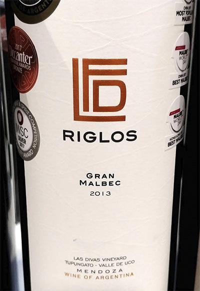 Finca Las Divas Riglos Gran Malbec Las Divas Vineyard Mendoza Argentina 2013 красное вино отзыв