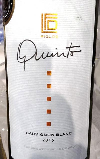 Finca Las Divas Riglos Quinto Sauvignon Blanc 2015 белое вино отзыв