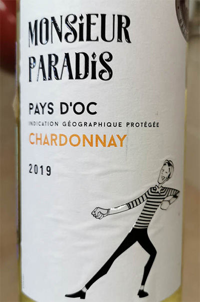 Monsieur Paradis Chardonnay Pays d'Oc 2019 белое вино отзыв