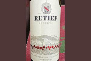 Retief Reserve Cape Blend 2017 красное вино отзыв