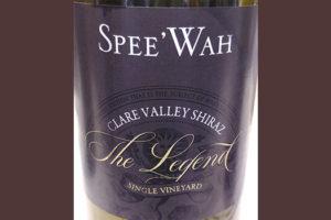 Spee'Wah The Legend Clare Valley Shiraz Single Vineyard 2016 красное вино отзыв