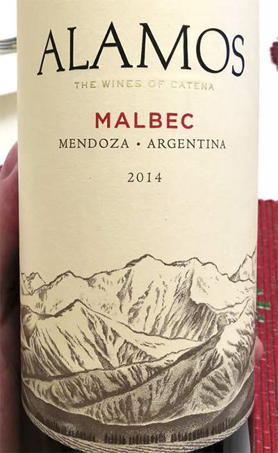 Alamos Malbec Mendoza Argentina Wines of Catena 2014 Красное вино отзыв