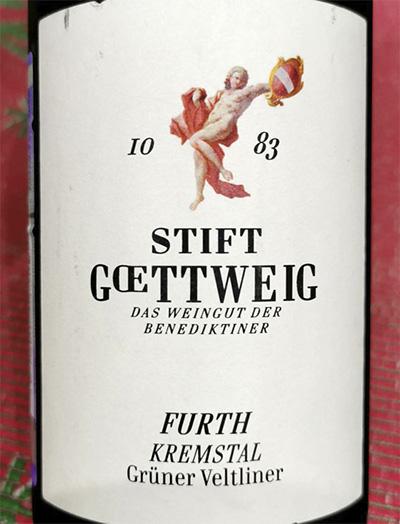 Stift Goettweig Gruner Furth Veltliner Kremstal 2018 Белое вино отзыв