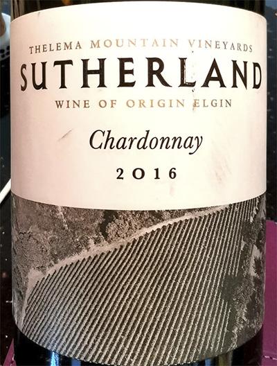 Thelema Mountain Sutherland Chardonnay Elgin 2016 Белое вино отзыв