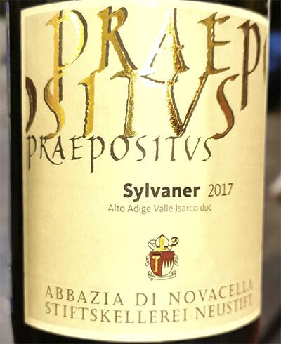 Abbazia di Novacella Praepositvs Sylvaner 2017 белое вино отзыв