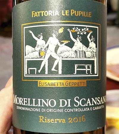Fattoria le Pupille Morellino di Scansano Riserva Elisabetta Gepetti 2016 Красное вино отзыв