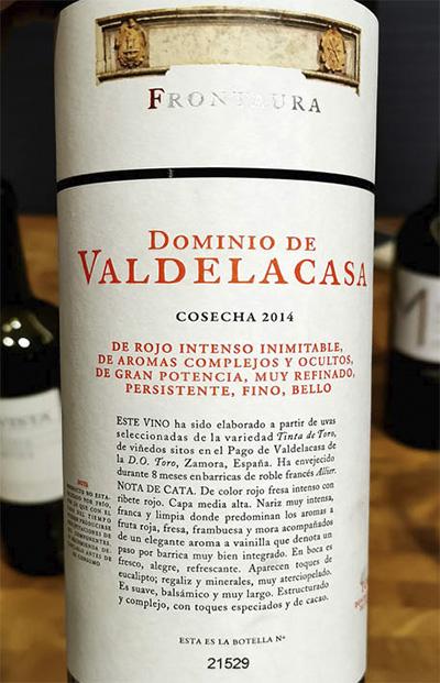 Frontaura Dominio de Valdelacas Cosecha 2014 Красное вино отзыв
