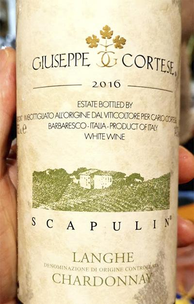 Giuseppe Cortese Scapulin Chardonnay Langhe 2016 Белое вино отзыв