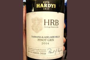 Hardy's HRB Pinot Gris Tasmania & Adelaide Hills 2014 белое вино отзыв
