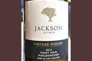 Jackson Estate Wintage Widow Pinot Noir Marlboro 2015 красное вино отзыв