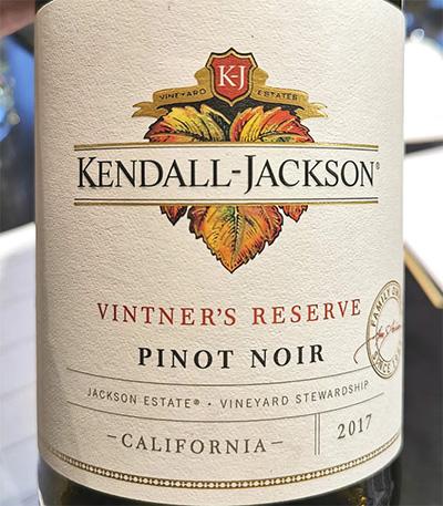 Kendall-Jackson Vinter's Reserve Pinot Noir California 2017 красное вино отзыв