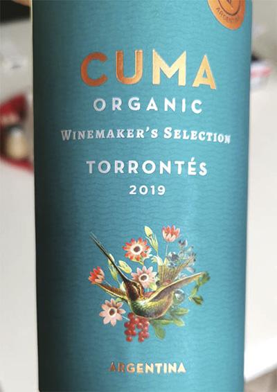 Michael Torino Cuma Organic Torrontes Winemaker's selection Argentina 2019 белое вино отзыв