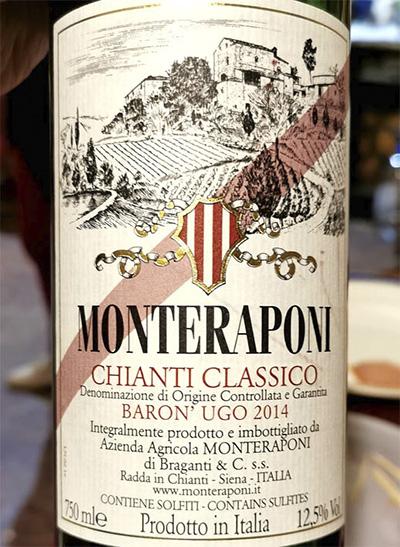 Monteraponi di Braganti Chianti Classico Baron' Ugo 2014 Красное вино отзыв