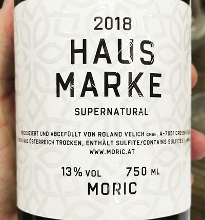 Moric Haus Marke Supernatural Austria 2015 белое вино отзыв