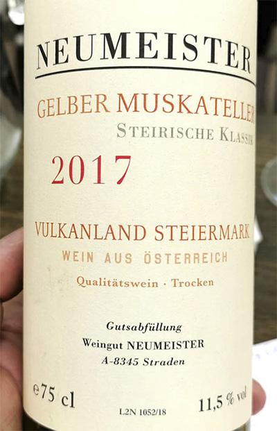 Neumeister Gelber Muskateller Vulkanland Steiermark Austria 2017 белое вино отзыв