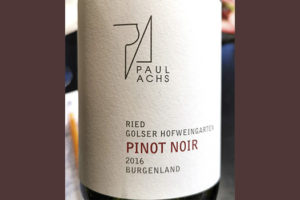 Paul Achs Pinot Noir Ried Golser Hofweingarten Burgenland 2016 красное вино отзыв