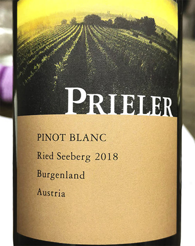 Prieler Pinot Blanc Reed Seeberg Burgenland Austria 2018 белое вино отзыв