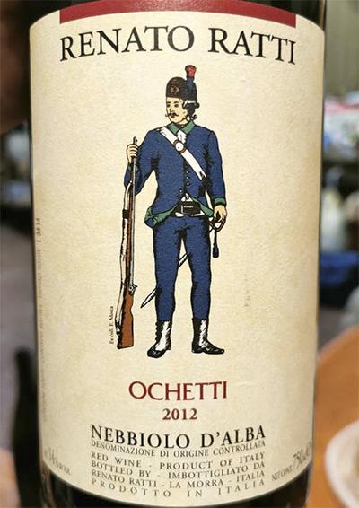 Renato Ratti Ochetti Nebbiolo d'Alba 2012 красное вино отзыв