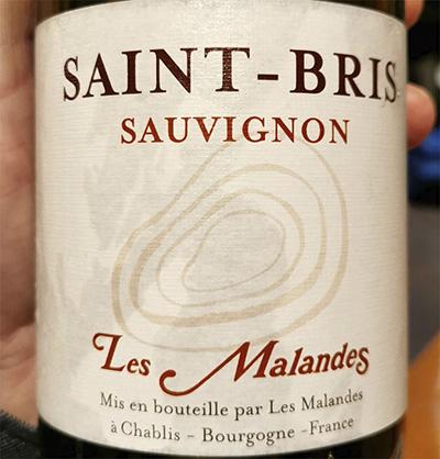Saint-Bris Sauvignon Les Malandes 2018 белое вино отзыв