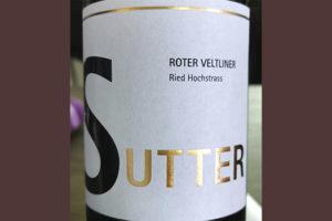 Sutter Ried Hochstrass Roter Veltliner klassik 2018 белое вино отзыв