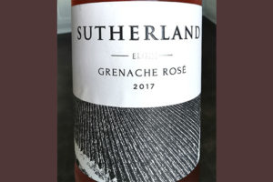 Thelema Mountain Sutherland Grenache Rose Elgin 2017 розовое вино отзыв