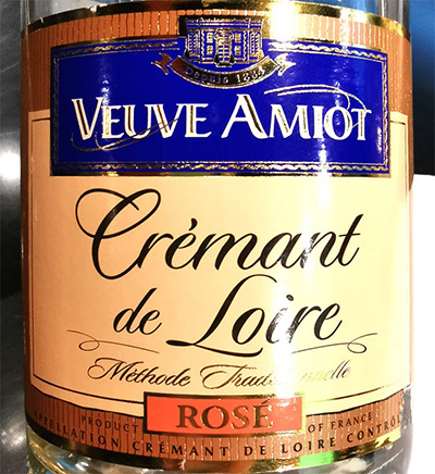 Veuve Amiot Cremant de Loire Rose Methode Traditionelle Розовое игристое брют отзыв