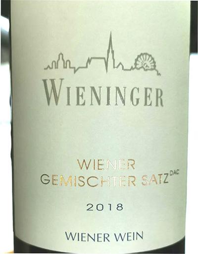 Wieninger Gemischter Satz 2018 белое вино отзыв