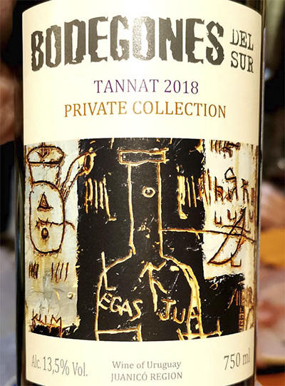 Bodegones del Sur Tannat Private collection Juanico 2018 Красное вино отзыв