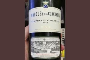 Marques de la Concordia Tempranillo Blanco Rioja 2018 Белое вино отзыв