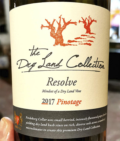 Perdeberg Cellars The Dry Land Collection Resolve Pinotage 2017 Красное вино отзыв