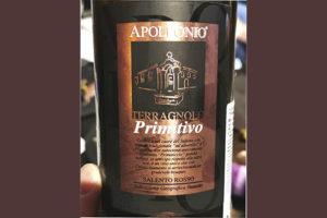 Apollonio Terragnolo Primitivo Salento rosso 2015 Красное вино отзыв