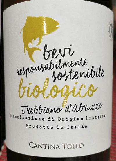 Cantina Tollo Trebbiano d'Abruzzo biologico 2019 Отзыв белое вино