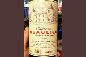 Chateau Beaulieu Comtes de Tastes Bordeaux superieur 2007 Красное вино отзыв