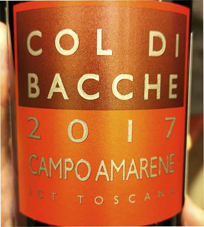 Col di Bacche Campo Amarene Toscana 2017 Красное вино отзыв