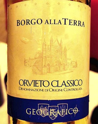 Geografico Borgo alla Terra Orvieto Classico 2018 Отзыв белое вино