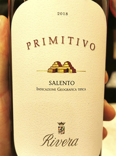 Rivera Primitivo Salento 2018 Отзыв красное вино