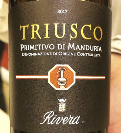 Rivera Triusco Primitivo di Manduria 2017 Отзыв красное вино