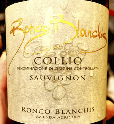 Ronco Blanchis Collio Sauvignon 2018 Белое вино отзыв