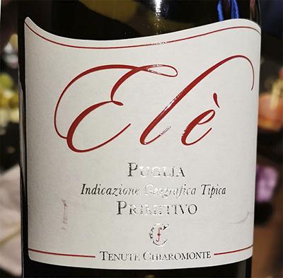 Tenute Ciaromonte Ele Primitivo Puglia 2018 Красное вино отзыв